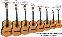 All the Different Types of Guitars.
