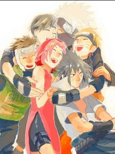 Yamato , Sai , Sakura , Kakashi , Naruto e Sasuke Naruto Team 7, Naruto Kakashi, Anime Naruto, Hinata, Naruto Cute, Naruhina, Naruto Family, Gaara, Wallpapers Naruto