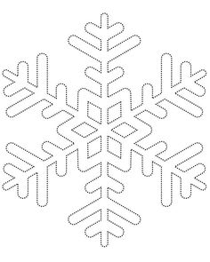 Template for hot glue snowflakes
