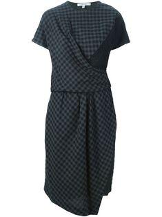 Carven драпированное платье в клетку