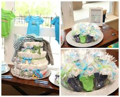 aqua lime green grey baby shower | of 31: Lime Green & Aqua Blue Necktie Little Man Shower / Baby Shower ...