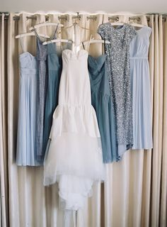 How To Look Your Best On Your Wedding Day. Photo by petramafalda On your big day, all eyes will be on you so you definitely want to look your best. If you can do your own makeup flawlessly then this Dusty Blue Bridesmaid Dresses, Dusty Blue Weddings, Dusty Blue Dress, Mint Green Bridesmaids, Sequin Bridesmaid, Bridesmaid Ideas, Wedding Themes, Wedding Colors, Wedding Photos