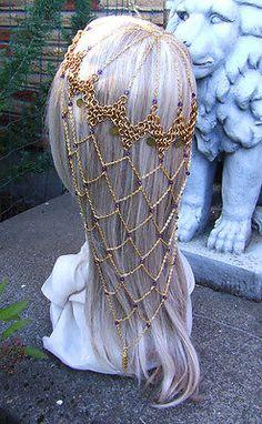 Game of Thrones Chainmail Headdress Purple Coins Steampunk BellyDance Gypsy SCA   eBay