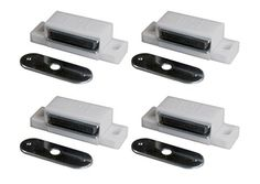 Magnetic Cabinet Latch. Brown Single Magnetic Touch Catch. . White ...