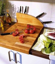 разделочные доски со встроенным местом хранеия ножей
