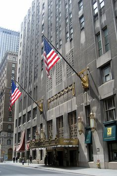 NYC: Entrance to the Waldorf Astoria Hotel.  NEW YORK CITY.   (by wallyg, via Flickr)