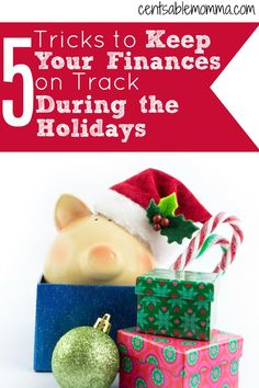 Christmas can be a stressful time on your budget, but it doesn't have to be.  Check out these 5 tricks to keep your finances on track during the holidays for some tips on fitting everything Christmas into your budget without creating debt.