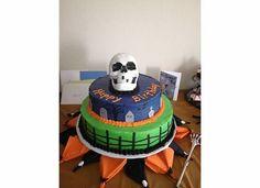 Halloween birthday cake- Made by Karla and Jess