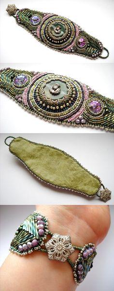 Bordados Beaded Cuff Bracelet: