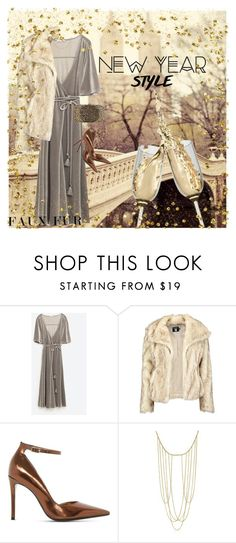 """""""January Furst"""" by rachael-aislynn ❤ liked on Polyvore featuring Boohoo, Dune, Adoriana, Valentino, Winter, velvet, fauxfur, NewYearsEve and fauxfurcoats"""