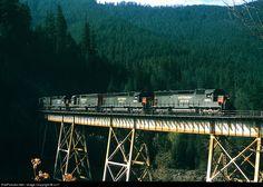 RailPictures.Net Photo: SP 8955 Southern Pacific Railroad EMD SD45 at Oakridge, Oregon by cz17