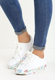 7a17110ca Ruth Wedge Sneaker - Black Black Wedge Sneakers, Floral Sneakers, Classic  Sneakers, Wedge
