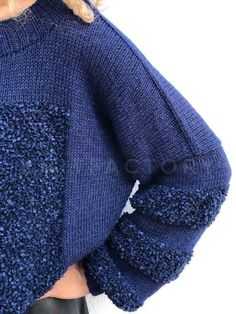 Hand knit sweater Blue jumper Color block style Womens pullover Oversize Knitting patterns In stock ready to ship Always wanted to learn to knit, nevertheless not certain where to begin? This specific Complete Beginner Knitting Collec. Hand Knitted Sweaters, Mohair Sweater, Blue Sweaters, Wool Sweaters, Knitwear Fashion, Knit Fashion, Pullover Jacket, Pin On, Crochet Shirt