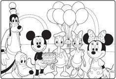 Mickey Mouse Clubhouse Birthday Coloring Page