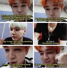 The ''love & hate'' relationship between Min Yoongi and Park Jimin.. my gut tells me Yoongi will let this slide since its Park Jimin,his precious Park Jimin <3 | allkpop Meme Center