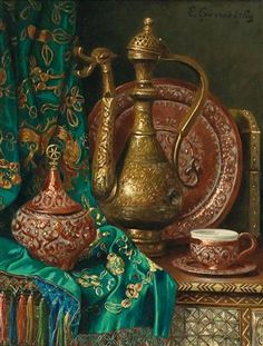 Ernst Czernotzky - Obrazy století - Odhadní cena: EUR do EUR - Dorotheum Moroccan Art, Turkish Art, Alphabet Art, Graffiti Alphabet, Islamic Art Calligraphy, Calligraphy Alphabet, Celtic Art, Celtic Dragon, Arabian Art