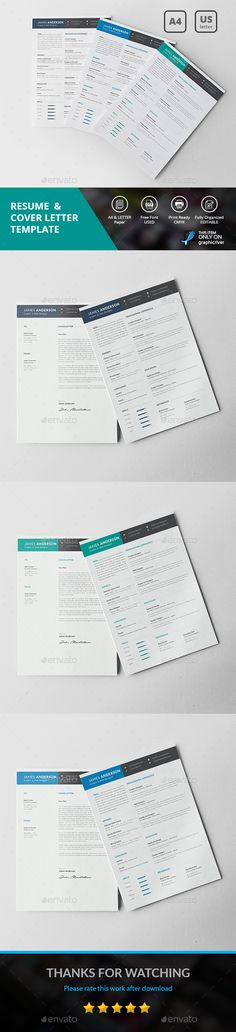 Resume\/CV Template PSD, MS Word - A4 and Us Letter Paper Size - resume paper