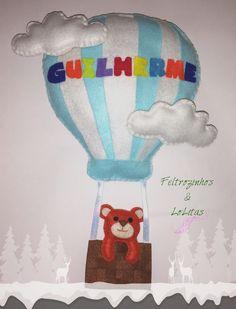 Feltro - Balão de ar quente!  Felt - Hot air ballon!  www.facebook.com/flolitas