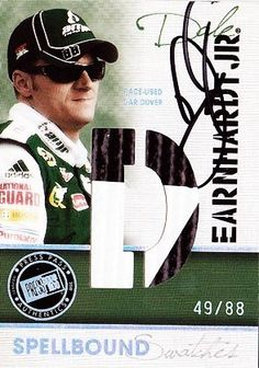 SIGNED Dale Earnhardt Jr. 2010 Eclipse SPELLBOUND SWATCH (Letter D) Car-Cover Card #49/88 by Trackside Autographs. $49.95. For your viewing pleasure: *AUTOGRAPHED* Dale Earnhardt Jr. 2010 Press Pass Eclipse SPELLBOUND SWATCHES (Letter D) Car-Cover Card #49/88. This nice trading card was hand-signed by Dale Jr through a well-respected member of Global Authentication. You will receive a Certificate of Authenticity (COA) with your purchase, and we also offer a 100% life-tim...