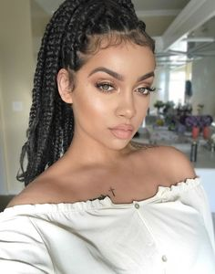 Everyday natural and dewy makeup look for olive skin#Braided #HairStyle #Hairs