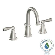 MOEN Banbury 8 in. Widespread 2-Handle High-Arc Bathroom Faucet in Spot Resist Brushed Nickel