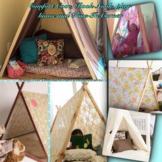 Comfort Cove 'CALMING DOWN NOOK' It is healthy to learn how to go off and find peace again when over-stimulated or stressed. These little corners are a gentle way to encourage self-soothing or 'centering' so to speak. ~Lelia Schott ~ www.facebook.com/AngelGentleParentinh