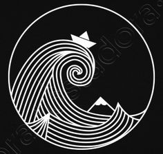 Tattoo Wave Boat Drawings 44 Ideas For 2019 Wave Drawing, Boat Drawing, Origami Boot, Wave Boat, Boat Illustration, Et Tattoo, Tattoo Art, Keramik Design, Boat Painting