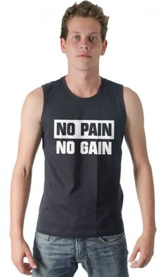 Camiseta - No pain no gain - Loja de Camisetas|CamisetasEraDigital