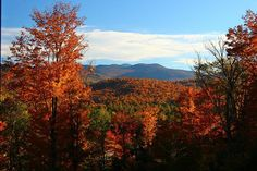 Fall in the Adirondack Mountains of upstate New York.