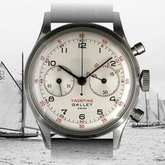 The MultiChron Yachting, introduced by Gallet in 1945, is the world's first wrist chronograph with regatta count down timer for yacht racing.