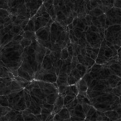 Black and white slice from a 162 Mpc/h simulation in different cosmologies. ©2012 DEUS consortium – Dark Energy Universe Simulations