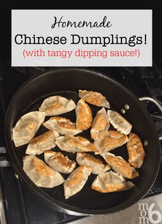 I originally learned how to make these homemade Chinese dumplings when I took a workshop at a Lunar New Year Party we attended as a family. The ladies that taught the class were amazing- and were kind enough to share their recipe and teach me their technique! Trust me- these will be the best dumplings you've ever tasted!  #HomemadeChineseDumplings #ChineseDumplings #ChineseFood  via @sharonmomof6