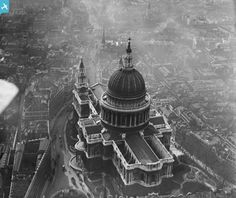 St Paul's Cathedral, 1947...rare aerial photo...just released!