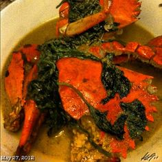 crab with coconut  kangkong seafood philippines food