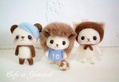【つぶらな瞳の羊毛フェルトマスコット】重版のお知らせ 大古ようこ著作   Cafe de yomofelt  カフェのような羊毛フェルト教室 大古ようこ オフィシャルブログ Felted Wool Crafts, Felt Crafts, Felt Dolls, Felt Animals, Projects For Kids, Plushies, Pet Toys, Needle Felting, Fiber Art