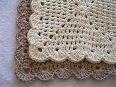 Classic Ivory and taupe wash cloths - a few little bumps