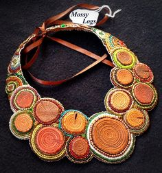 FREE SHIPPING  Tooled leather & bead embroidery collar by Gemsplusleather, $275.00