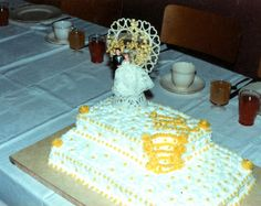 Wedding Cake I made for my sister way back early 1980's.