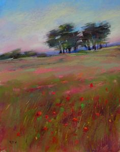 'Carpet of Red' pastel I have been busy in the studio today with a few different projects on the burner. Pastel Landscape, Landscape Art, Landscape Paintings, House Paintings, Tree Paintings, Pastel Artwork, Pastel Paintings, Chalk Pastels, Pastel Drawing