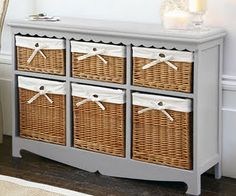 I want to remove drawers from a dresser that we have and add baskets.