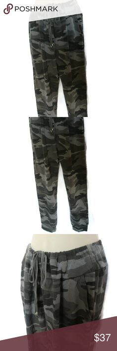 Chelsea Sky Green Camo Joggers Drawstring NWT Chelsea Sky Green Camo Joggers Drawstring Waist New with Tags Chelsea Sky Pants Track Pants & Joggers