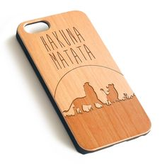 Hakuna Matata Disney Natural wood iPhone case laser engraved iPhone 7 6 6S Plus case WA034