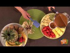 Fondue de caramelo. hacer una fondue de caramelo con frutas #videorecetas