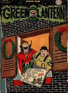 Green Lantern 18 - Wreath - Window - Snow - Shutters - Sign