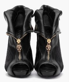 could do without the skulls, but LOVE the shoes // Alexander McQueen shoes - don't be afraid to take a risk