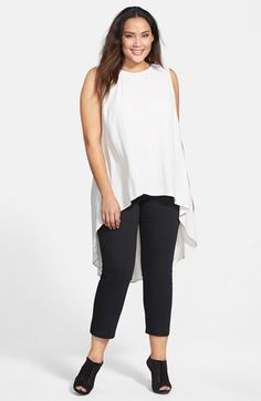 Eileen Fisher Sleeveless Silk High/Low Tunic (Plus Size) | Nordstrom