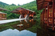 :: Revista Axxis :: Detalle de la estructura de bambú diseño de Simón Vélez.