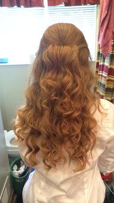 Homecoming hair/ Prom hair/ Half up