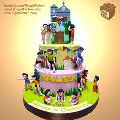 Philippine Children's Games Cake / Larong Kalye Cake for Malaya