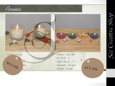 Aroma Candles 195 glass candles and 196 gel candles